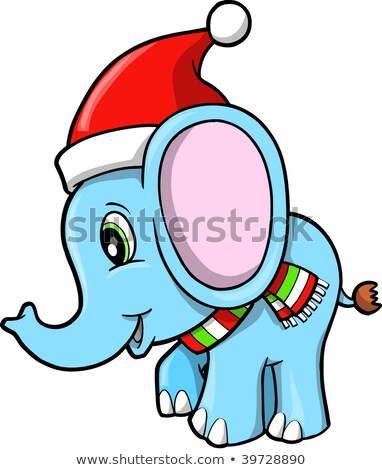 Christmas Elephant Vector Stock Vector (Royalty Free) 39728890.