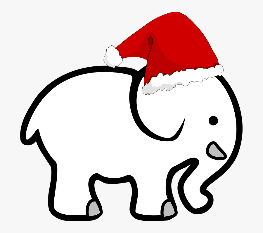 White Elephant Christmas , Free Transparent Clipart.