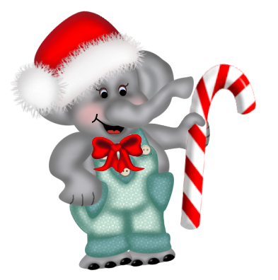 CHRISTMAS ELEPHANT CLIP ART.
