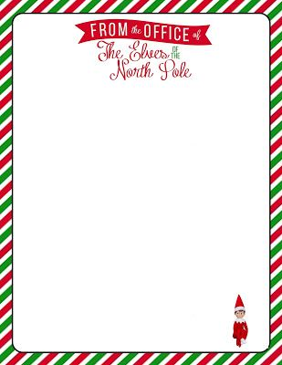 Free, Printable Letterhead for your Elf on the Shelf. in.