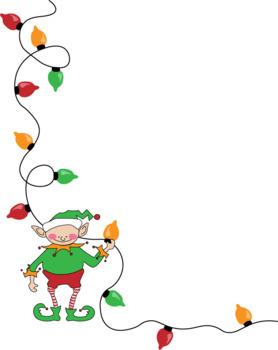 Creative Christmas Border Clip Art.