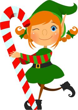 Girl Elf Clipart.