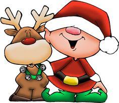 Christmas elf clip art.