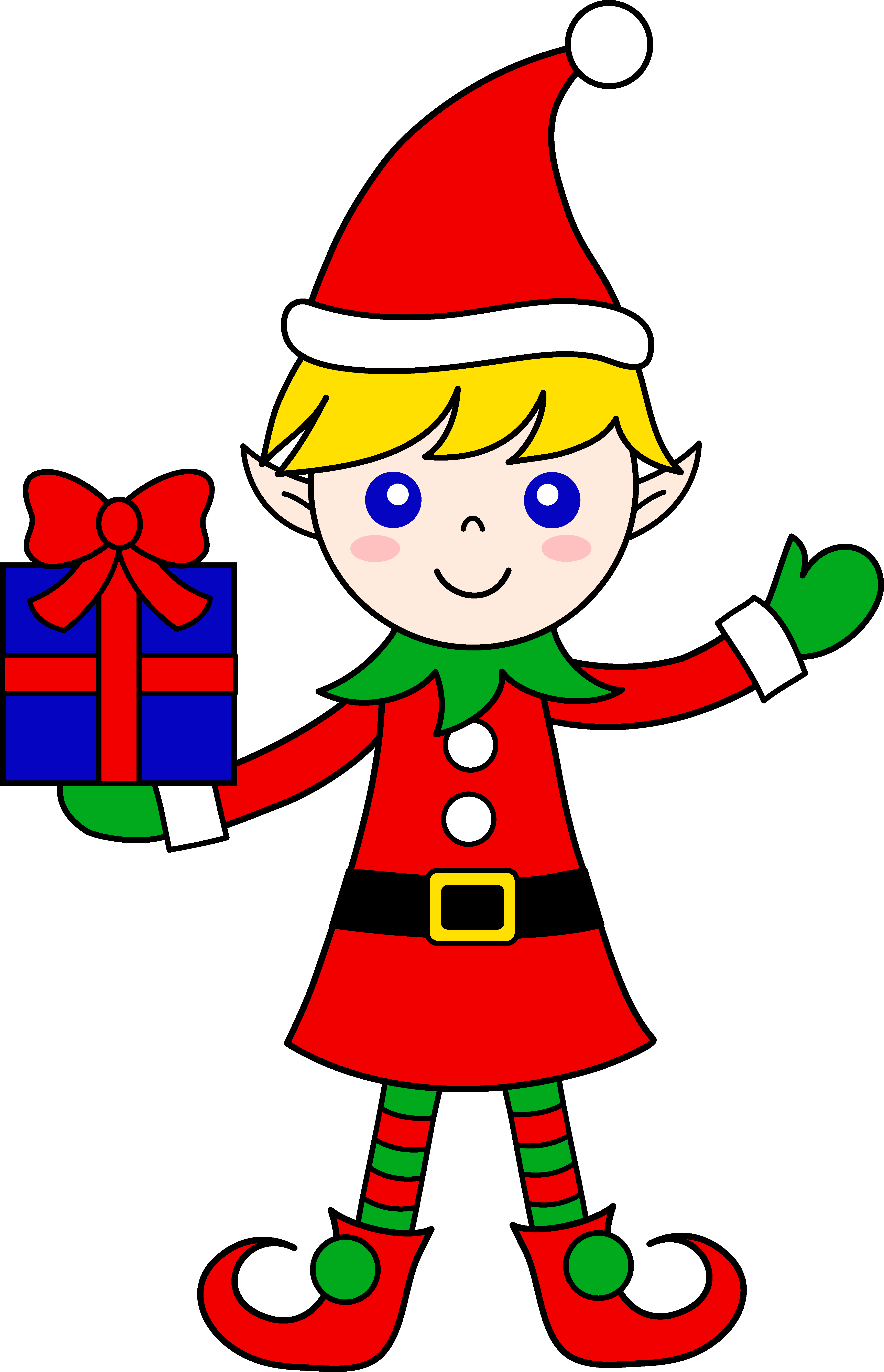 Christmas elf clipart images.