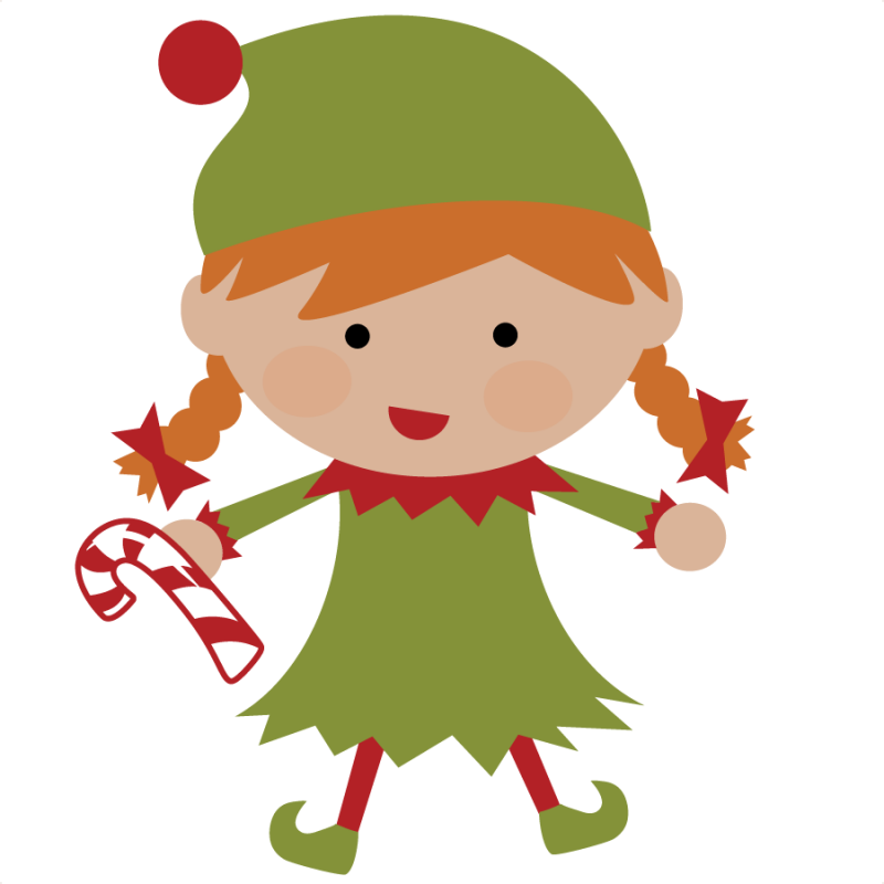 christmas female elves clipart