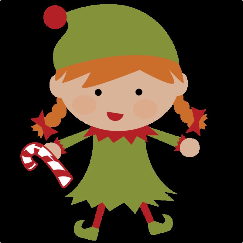 Christmas Elves Clipart.