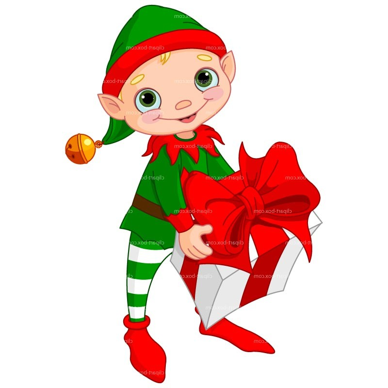 Christmas Elves Clipart.