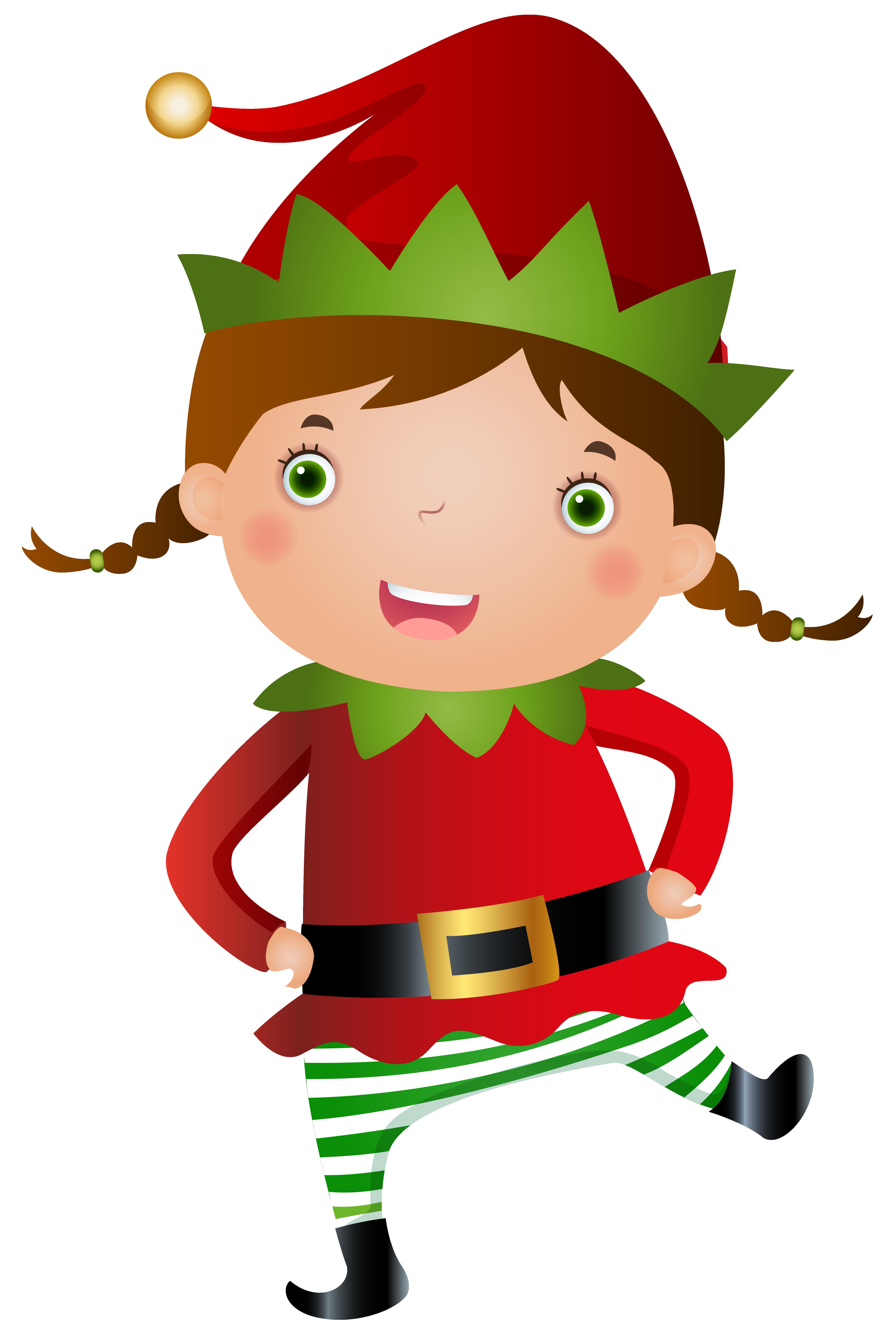 Elf Girl Transparent PNG Clip Art Image.