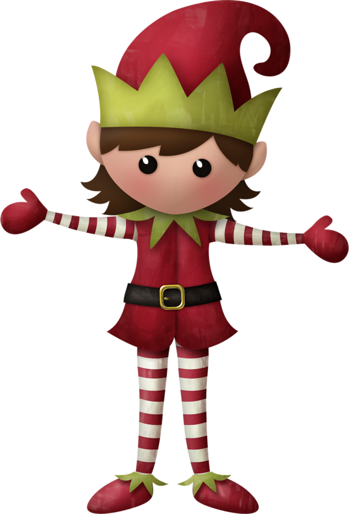 CHRISTMAS GIRL ELF CLIP ART.