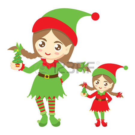 1,569 Christmas Elf Girl Stock Illustrations, Cliparts And Royalty.