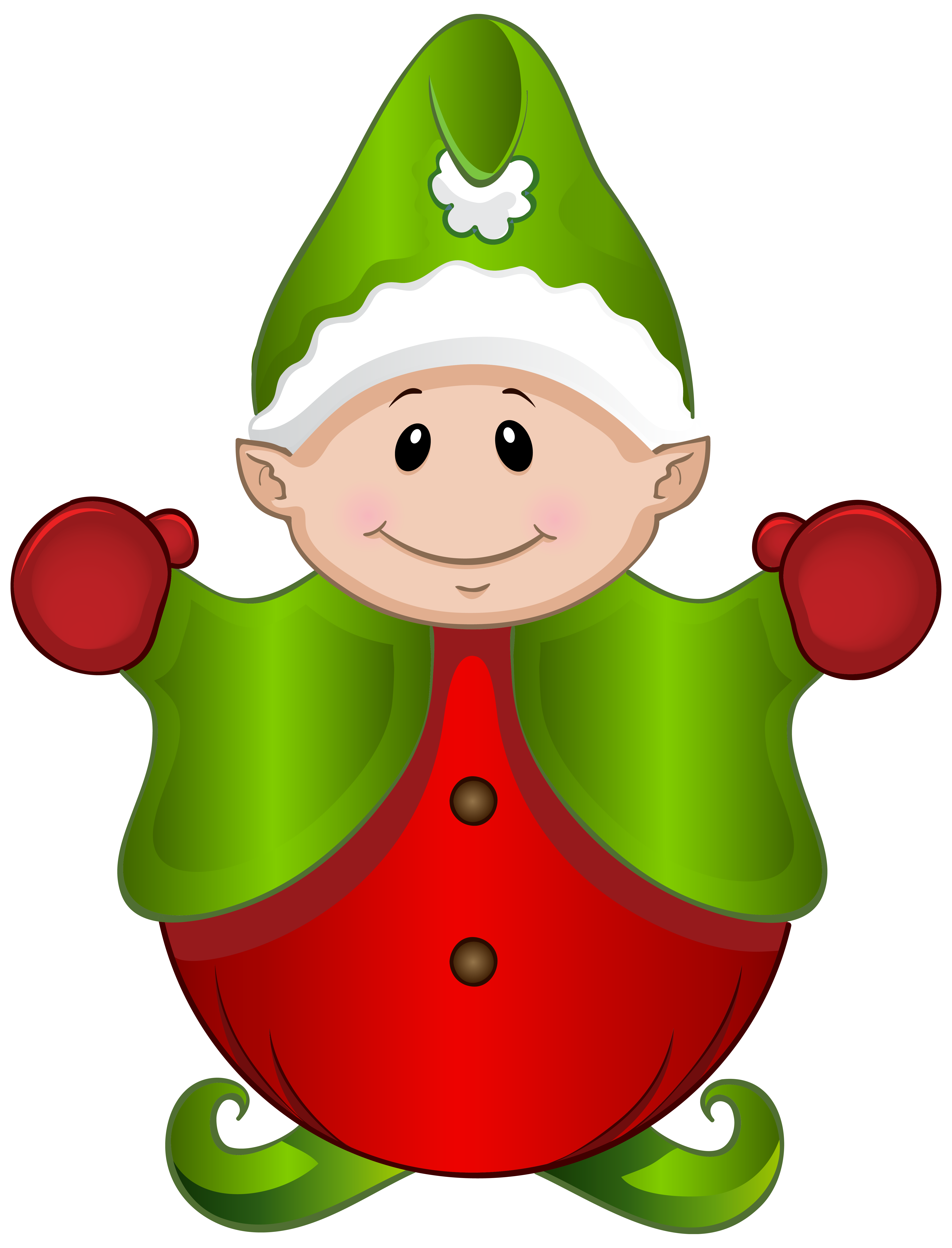 Cute Elf PNG Clipart Image.