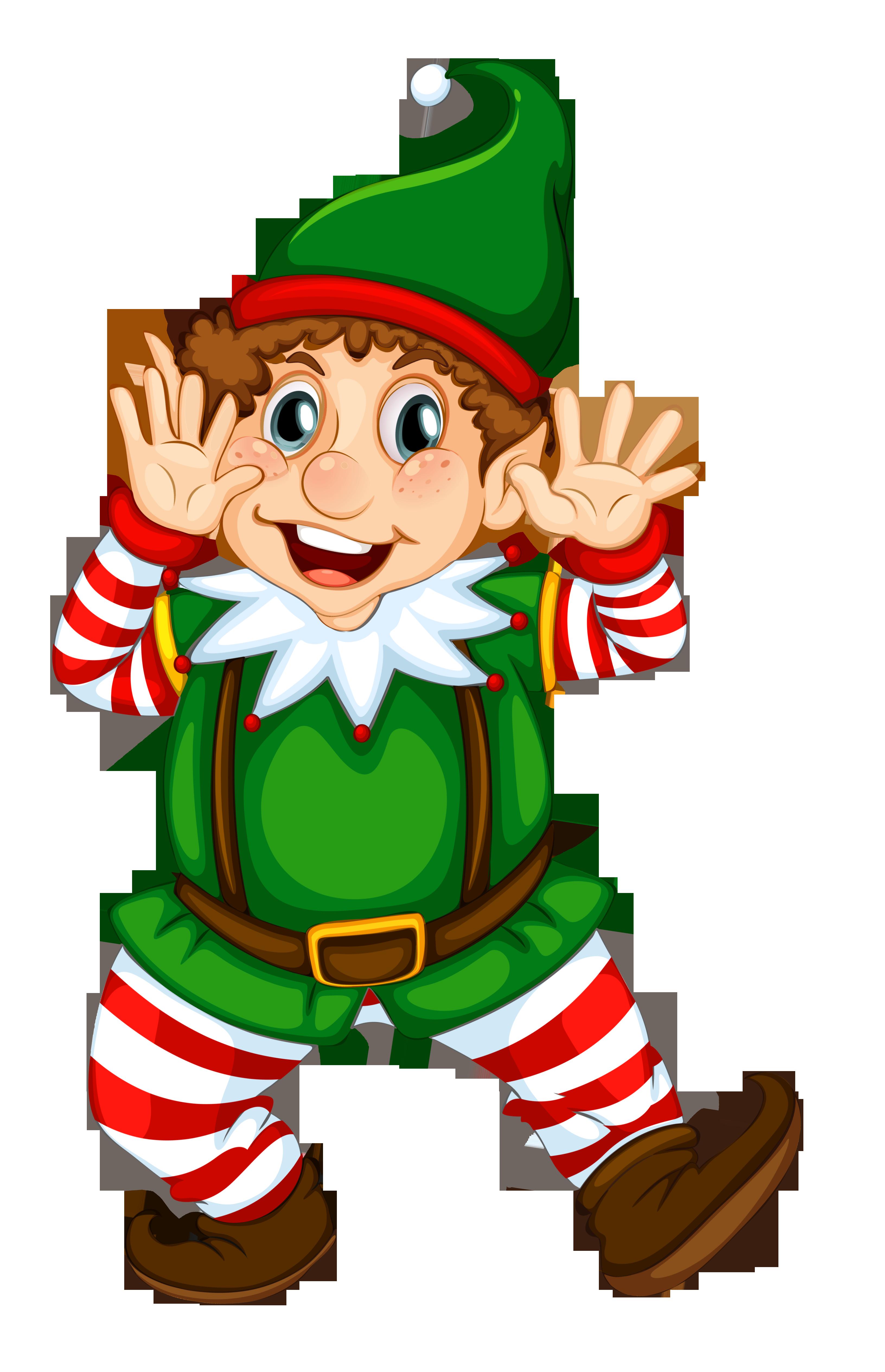 Transparent Christmas Elf.
