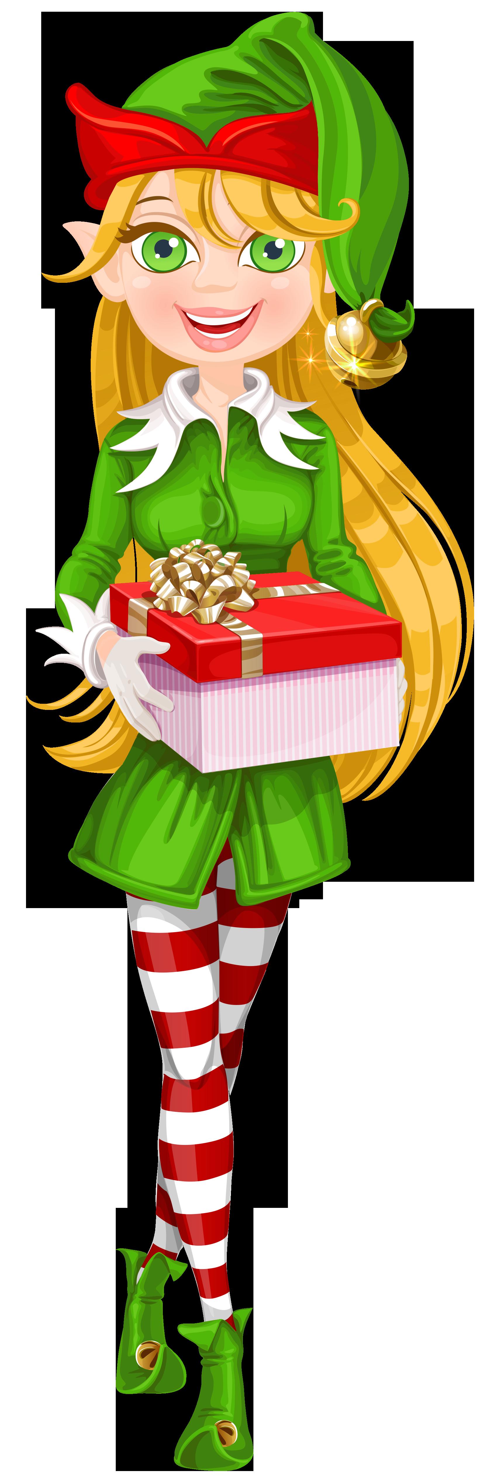 Christmas Elf Transparent PNG Clip Art Image.