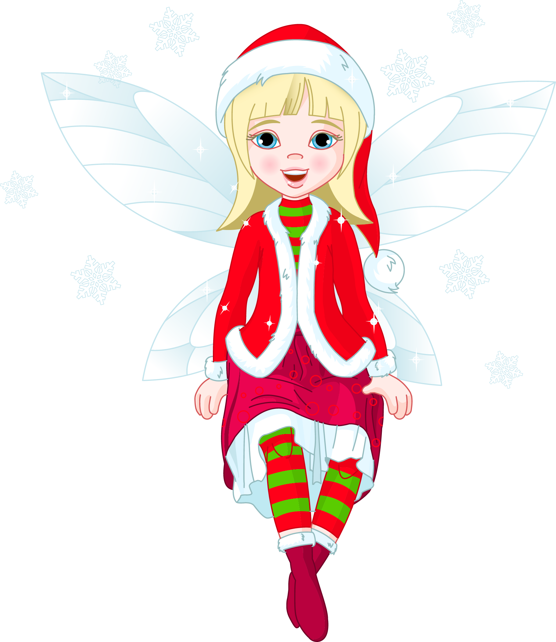 Transparent Christmas Elf PNG Clipart.