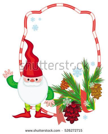 christmas elf frame vector clipart #14