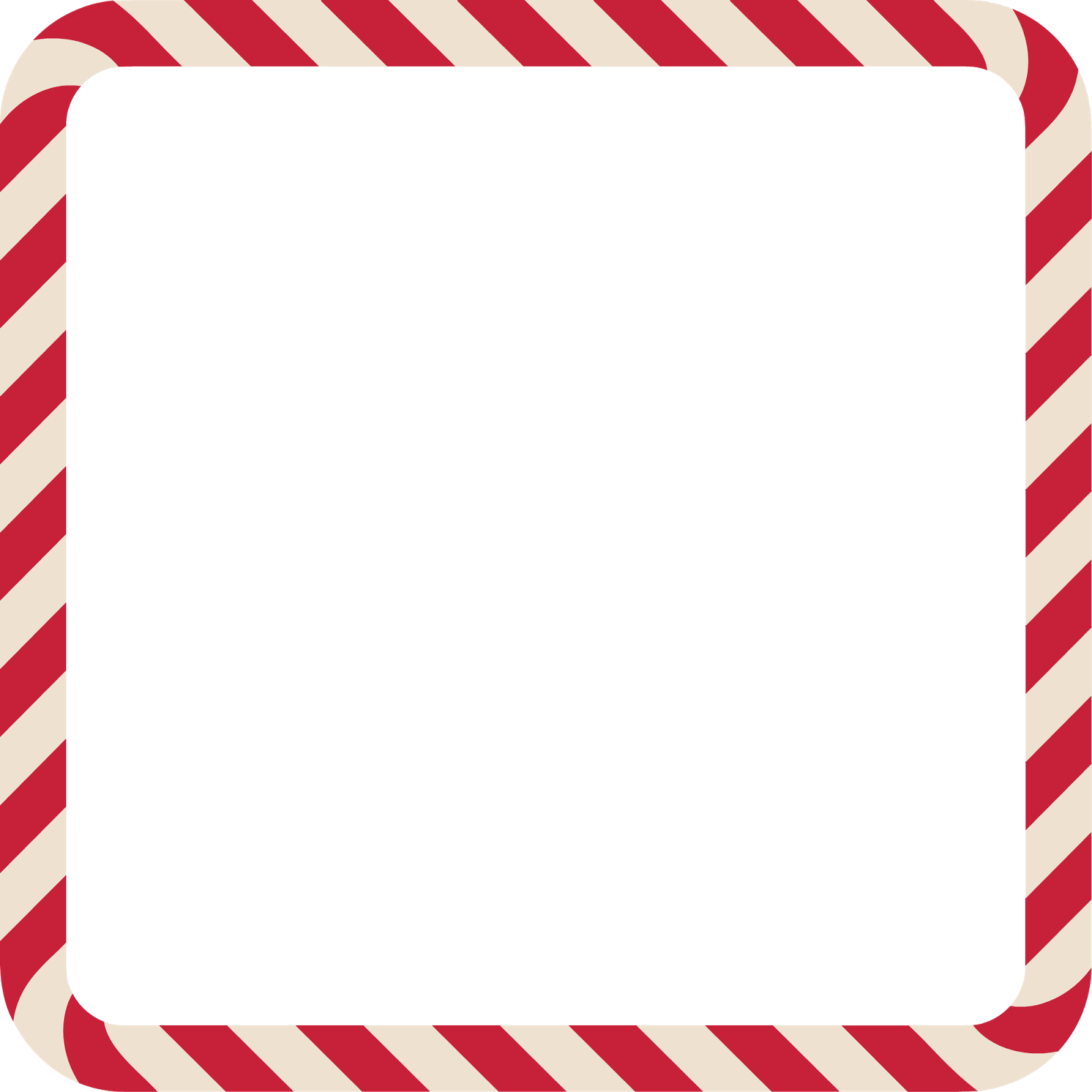 Christmas Elf Candy Cane Frame Vector Clipart.