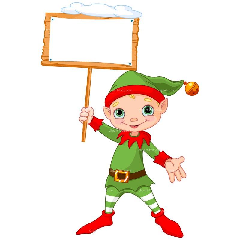 christmas elf frame vector clipart #7