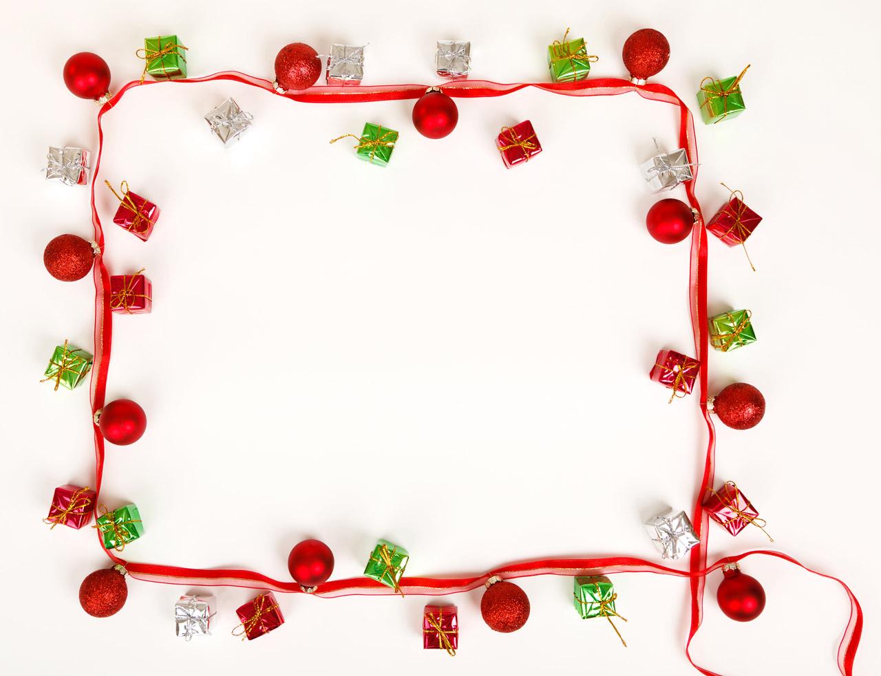 christmas elf frame vector clipart #8