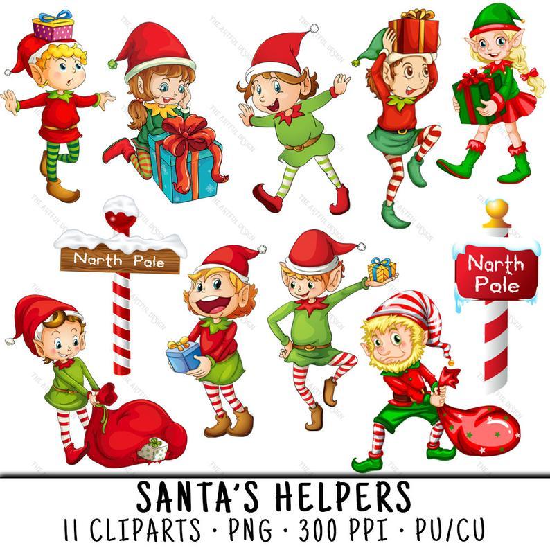 Elf Clipart, Christmas Clipart, Elf Clip Art, North Pole Clipart, Clipart  Christmas, Christmas Elf PNG, North Pole PNG, Christmas Elves PNG.