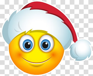 Emojis Christmas transparent background PNG cliparts free download.