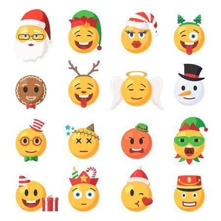 1,342 Christmas Emoji Cliparts, Stock Vector And Royalty Free.