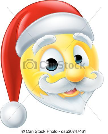Santa Claus Emoji Emoticon.