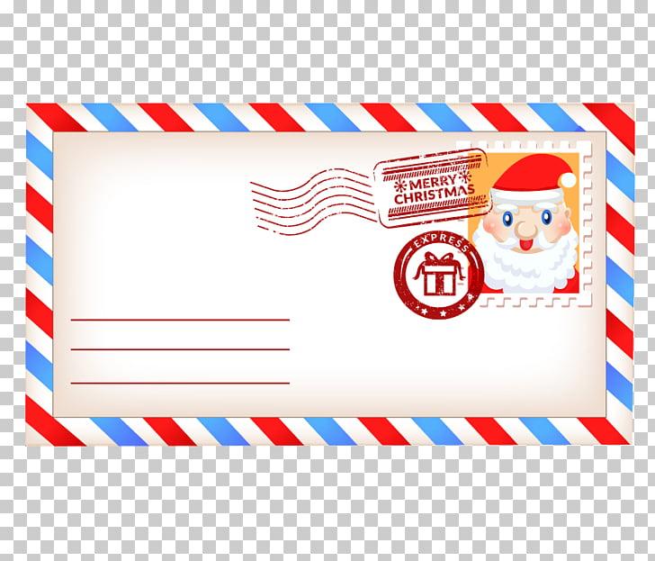 Santa Claus Paper Christmas Envelope, Mail Envelopes PNG.