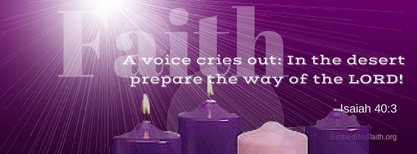 Second Sunday of Advent Cycle B Facebook Cover.