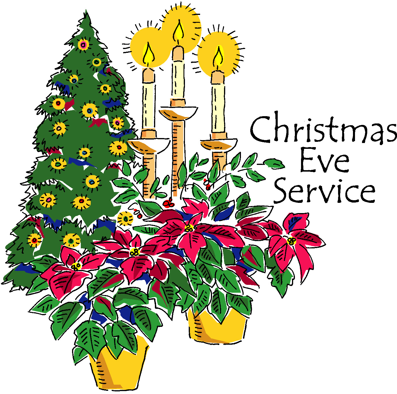 Christmas Eve Service Clipart (18+).