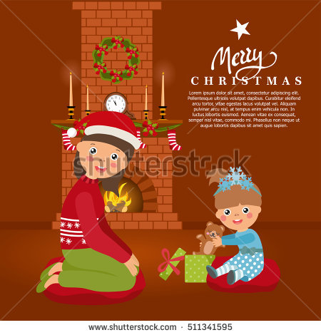 Family Fireplace Stock Vectors, Images & Vector Art.