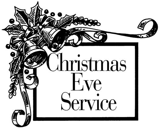 Christmas Eve Service Clipart.