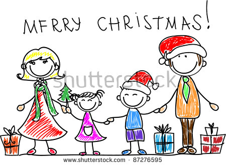 Christmas Family Stock Vectors, Images & Vector Art.