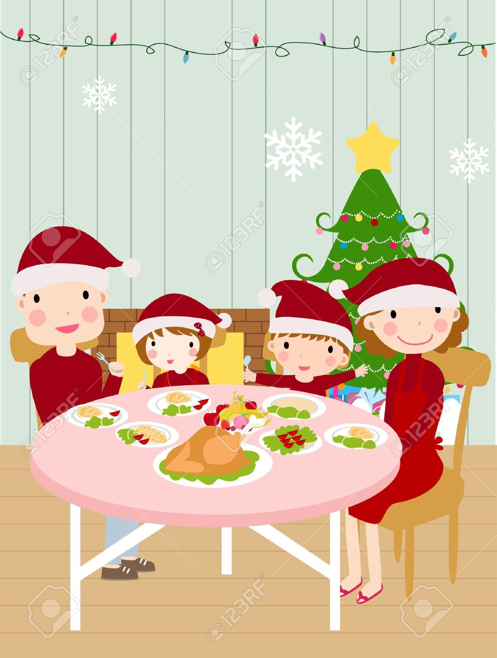 656 Christmas Family Dinner Stock Illustrations, Cliparts And.