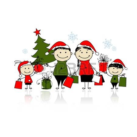 Christmas Family Shopping Stock Photos & Pictures. Royalty Free.