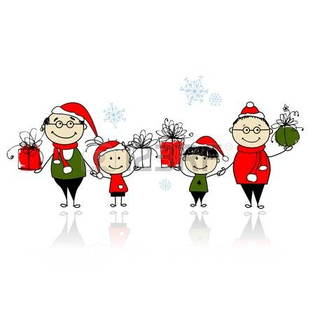 14,389 Christmas Family Cliparts, Stock Vector And Royalty Free.