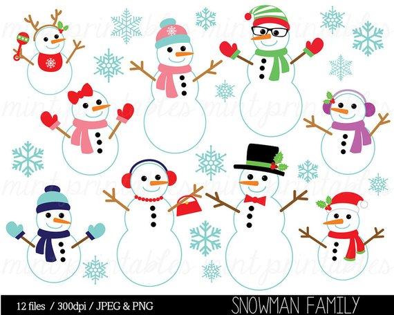 Christmas Clipart, Christmas Clip Art, Snowman clip art.