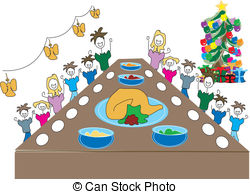 Family christmas dinner Vector Clipart Royalty Free. 812 Family.