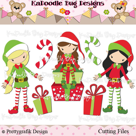 christmas female elves clipart - Clipground