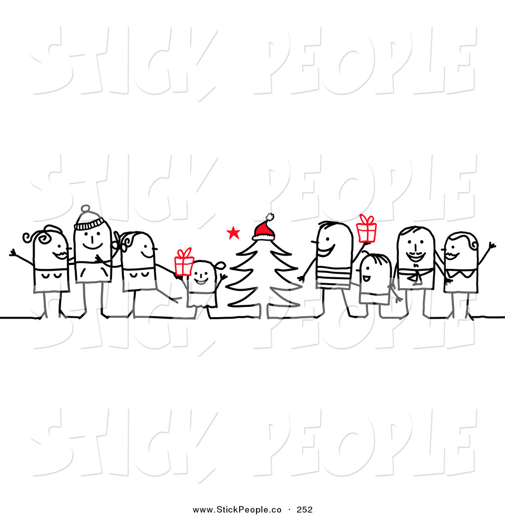 Vector Graphic of a Stick Figure People Character Families.