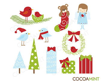 Christmas Family Stick Figures Clip Art by cocoamint on Etsy.