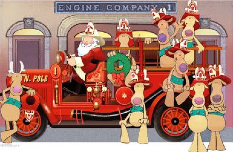 Showing post & media for Cartoon fire truck christmas.