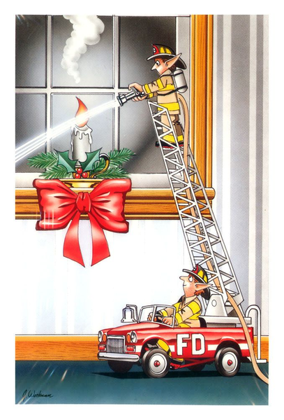 Firefighter Christmas Clipart.