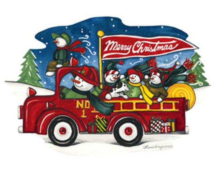Firefighter Christmas Clipart.