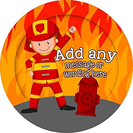 Amazon.com: Fireman Firefighter Personalized Sticker Lables.