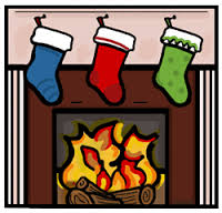 Free Christmas Fireplace Clipart.