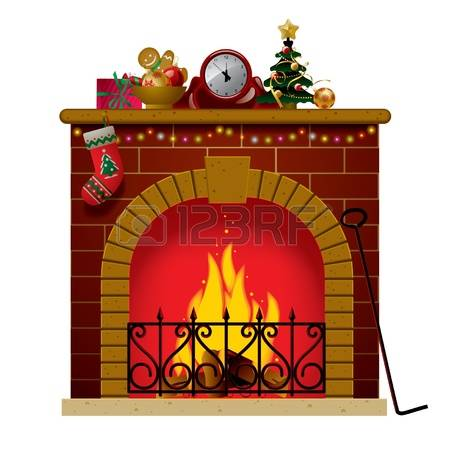 3,107 Christmas Fireplace Stock Vector Illustration And Royalty.