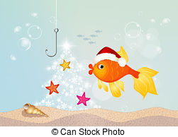 Red fish at christmas Clip Art and Stock Illustrations. 7 Red fish.