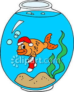 Christmas Fish Clipart.