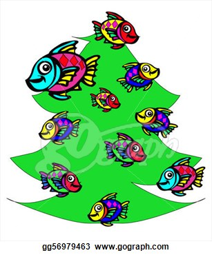 Fish Christmas 2 Clipart.