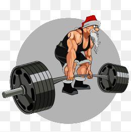 Fitness Santa, Fitness Clipart, Santa Clipart, Christmas PNG.